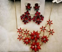 red and white floral beaded necklace Portsmouth, 23701