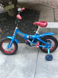 Toddler's 12 inch Thomas the Train Bicycle with Training Wheels and Bell Oakville, L6L