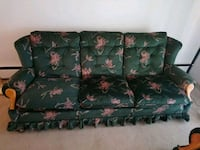 green and red floral 3-seat sofa