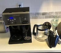 Coffee machine with hot water