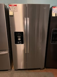 Whirlpool side by side stainless steel refrigerator *New Scratch&Dent* Reisterstown, 21136