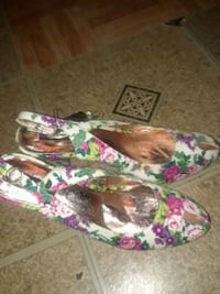 pair of multicolored floral print flats The Bronx, 10474