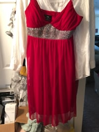 Red and pave' waist spaghetti strap dress Hyattsville