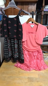 Byer girl peach sz 10 dress, Xhilaration 10/12 black dress 156 mi