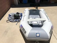 white and gray inflatable pontoon Long Beach, 90808