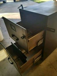 File cabinet great use for a lock box.   Fresno, 93726
