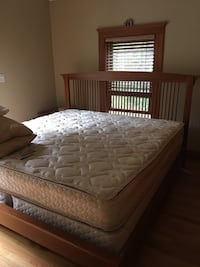 King sized Cherry Bed. 80width x 86length x 48 height   Not sure if 86 length is considered CAL KING Chelmsford, 01824