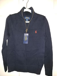 Polo half-zip sweater - Navy - New w tag - 8yr Fairfax, 22033