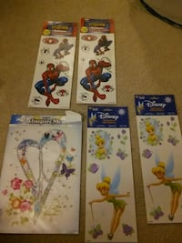 Tinkerbell and Spiderman are wall decals. Martinsburg