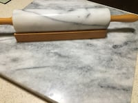Solid marble kitchen slab and rolling pin. Needs to go Sparta, 49345