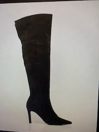 Italian Design Suede Over-the-knee boot, black, Size 9 Vaughan, L4L 4C2