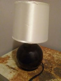 black and white table lamp Claremont, 28610