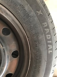 15 inch all season tires with rims Mississauga, L4V 1N8