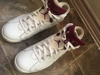 pair of white-and-red Air Jordan shoes St Catharines, L2T 2R1