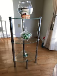 3 Tier glass decor