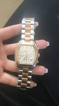 Authentic Michael Kors Watch Unisex Rose Gold & Silver