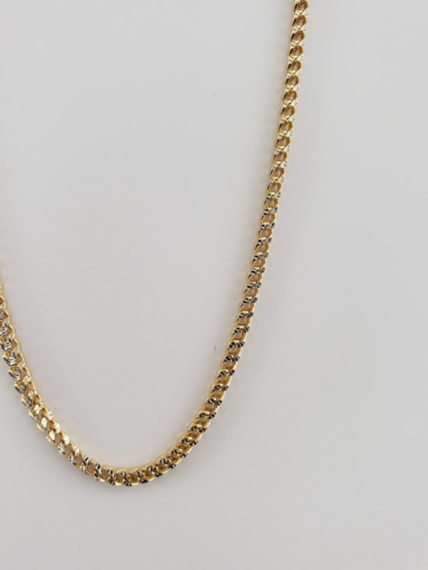 10k Yellow Gold Two-Toned Franco Chain 6