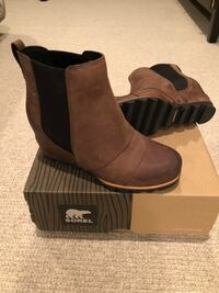 NEW Sorel Lea Wedge, size 8, brown  Hopkins, 55305