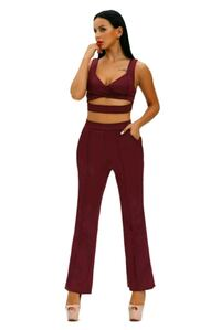 two piece burgundy to and pants Hagerstown, 21742