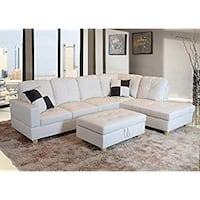 white and brown sectional sofa Austin
