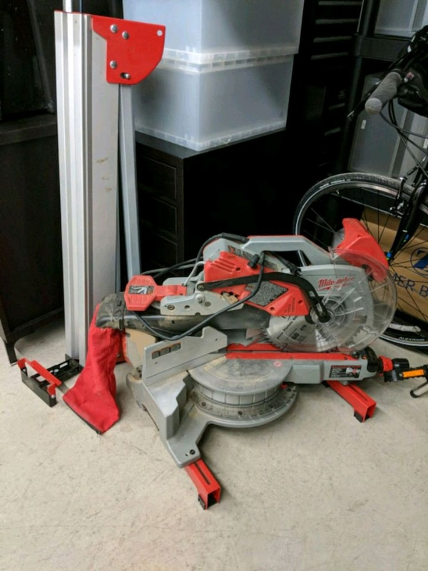 """Milwaukee 12"""" Sliding Miter Saw with stand"""