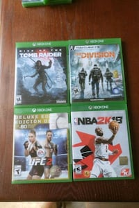 **DISCOUNTED** Four Xbox one games  Temple Hills, 20748