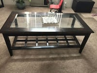 rectangular black wooden framed glass top coffee table El Cajon, 92021