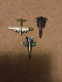 silver black and blue airplanes toy Las Vegas, 89108
