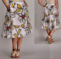 *WORN ONCE* Cotton Daisy Print Midi Full Skirt by LANE BRYANT Indianapolis, 46204