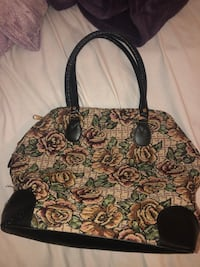 black and green floral tote bag Fresno, 93705
