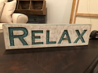 Wooden RELAX sign Manassas, 20110
