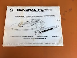 Star Trek-USS Reliant BluePrint/Plans Set