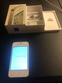 iPhone 4s white with box and cord Biddeford, 04005