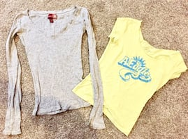 2 women's hco & ae xs tops
