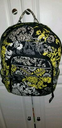black and multicolored floral backpack 792 mi