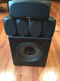Polk home theater 5.1 speakers with subwoofer