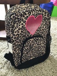 black and brown leopard print backpack El Centro, 92243