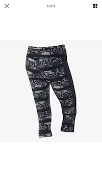 Nike black and white camouflage pants