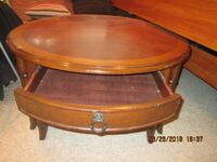 round brown wooden coffee table Buford, 30518