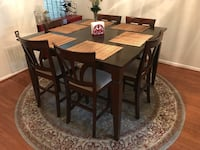 Rectangular brown wooden table with four chairs dining set Capitol Heights, 20743