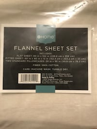 Home flannel sheet set Vienna, 22182