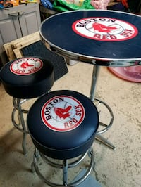 Red Sox Pub Table and two Stools Concord