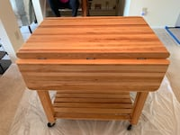 Butcher Block Rolling Cart with Drawer and Shelf Ashton, 20861