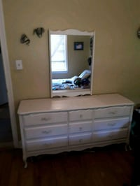 white wooden dresser with mirror Toronto, M3M 1T8