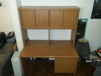 brown wooden computer desk with hutch Tulsa