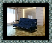 Black futon frame with mattress Bowie, 20720