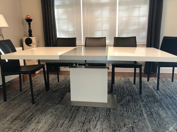 Modern Dining Room Set- Table, 8 Chairs, Sideboard
