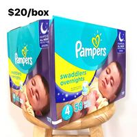Size 4 Pampers Swaddlers Overnights (58 diapers) - $20/box Anaheim