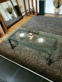 rectangular glass top coffee table w green legs Frederick, 21704