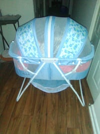 baby's blue and white bassinet Temple Hills, 20748